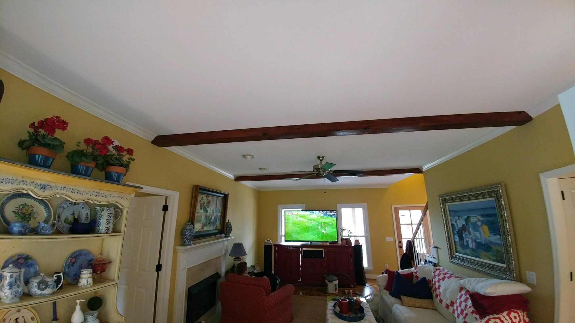 Cedar Beams on Ceiling