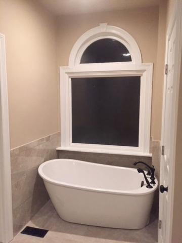 New Tub in Remodeled Enclosure